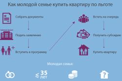 Этапы и условия получения субсидии для молодых семей